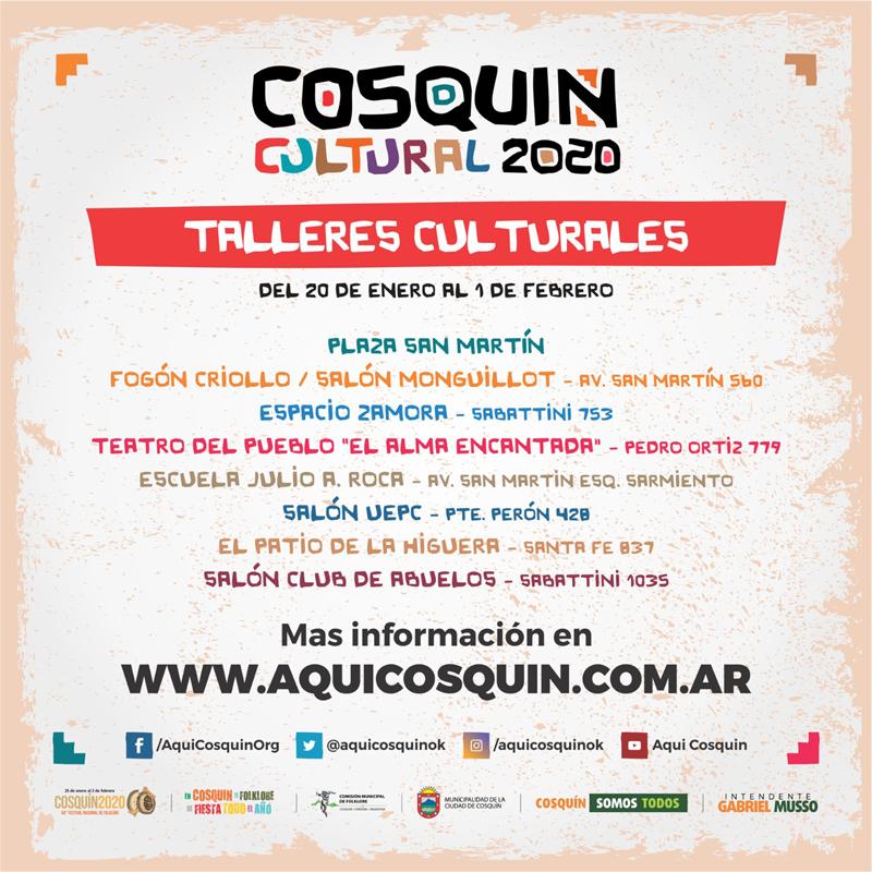 Grinfeld - Festival de Cosquin - Talleres Culturales