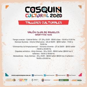 Grinfeld - Festival de Cosquin 2020 - Talleres Culturales